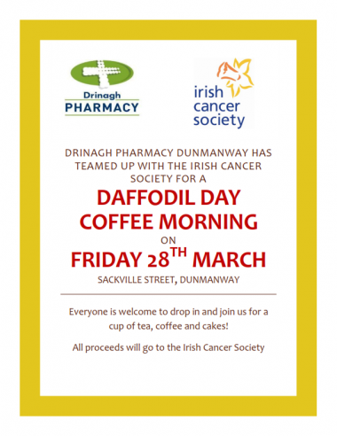 Daffodil Day Coffee Morning in Dunmanway